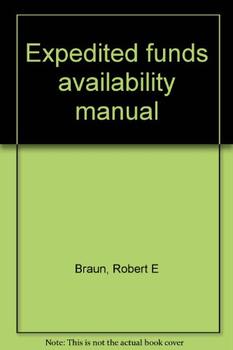 Expedited Funds Availability Manual  1989 edition cover
