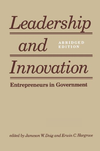 Leadership and Innovation Entrepreneurs in Government Abridged  edition cover