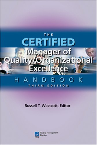 Certified Manager of Quality/Organizational Excellence Handbook  3rd 2005 edition cover