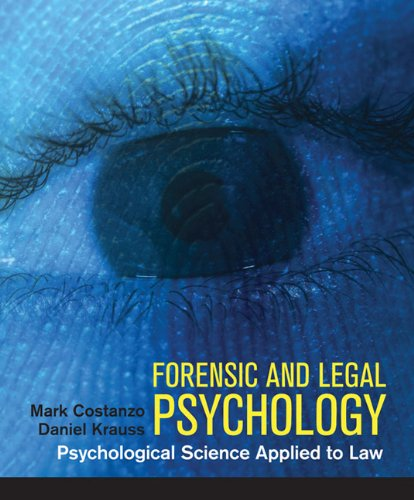 Forensic and Legal Psychology   2012 edition cover