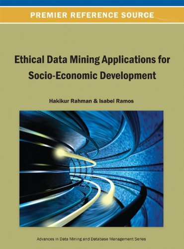 Ethical Data Mining Applications for Socio-economic Development:   2013 edition cover
