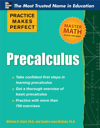 Practice Makes Perfect Precalculus   2012 edition cover