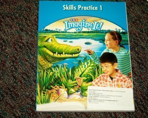 Imagine It! - Skills Practice Workbook 1 - Grade 3   2008 9780076104789 Front Cover