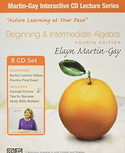 BEGINNING+INTERMED ALG.CD LECT.SER (SW) N/A edition cover
