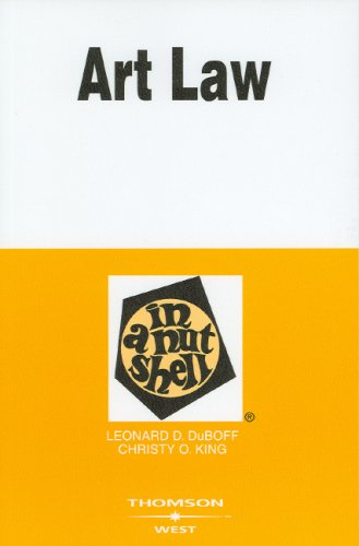 Art Law in a Nutshell  4th 2006 (Revised) edition cover