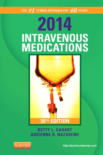 2014 Intravenous Medications A Handbook for Nurses and Health Professionals 30th edition cover