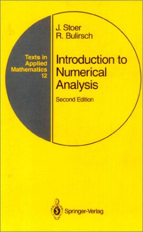 Introduction to Numerical Analysis  2nd 1996 (Revised) edition cover