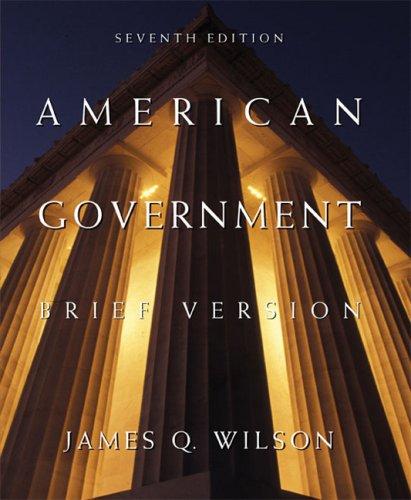 American Government  7th 2005 (Brief Edition) edition cover