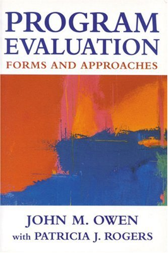 Program Evaluation Forms and Approaches  1999 9780761961789 Front Cover