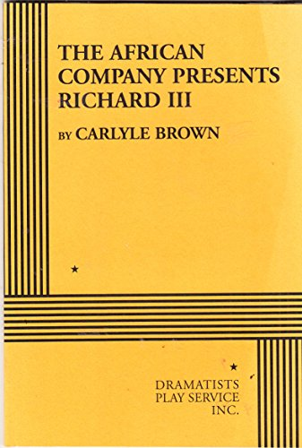 African Company Presents Richard III   1994 edition cover