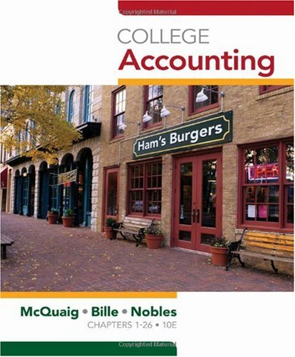 College Accounting  10th 2011 edition cover