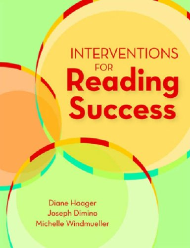 Interventions for Reading Success   2007 edition cover