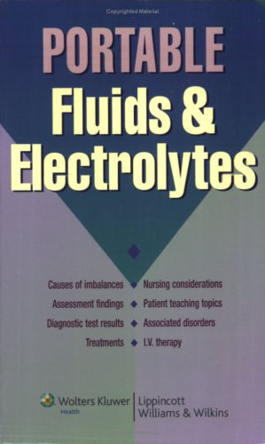 Portable Fluids and Electrolytes   2008 9781582556789 Front Cover