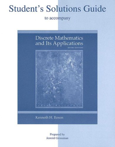 Discrete Mathematics and Its Applications  6th 2007 (Student Manual, Study Guide, etc.) edition cover