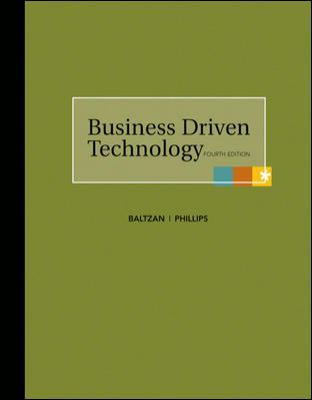 Business Driven Technology  4th 2010 edition cover