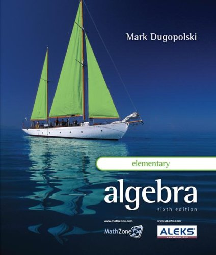 Elementary Algebra  6th 2009 edition cover