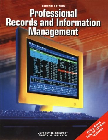 Professional Records and Information Management  2nd 2002 9780078227790 Front Cover