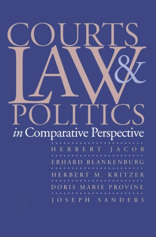 Courts, Law, and Politics in Comparative Perspective   1996 edition cover