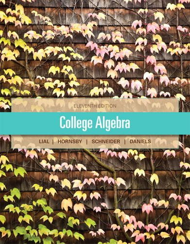 College Algebra  11th 2013 (Revised) 9780321671790 Front Cover