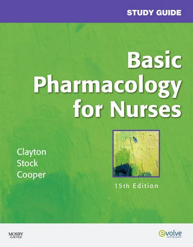 Study Guide for Basic Pharmacology for Nurses  15th 2009 edition cover