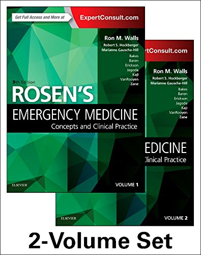 Rosen's Emergency Medicine: Concepts and Clinical Practice 2-Volume Set 9th 2018 9780323354790 Front Cover