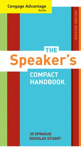 Cengage Advantage Books: the Speaker's Compact Handbook, Revised  2nd 2009 edition cover