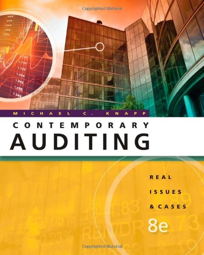 Contemporary Auditing Real Issues and Cases 8th 2011 9780538466790 Front Cover