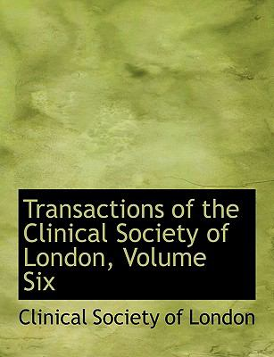 Transactions of the Clinical Society of London:   2008 edition cover