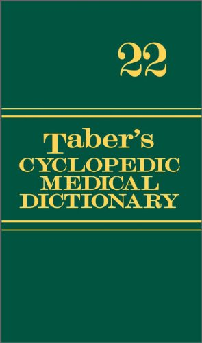 Taber's Cyclopedic Medical Dictionary  22nd 2013 (Revised) edition cover