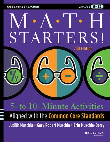 Math Starters 5- to 10-Minute Activities Aligned with the Common Core Math Standards, Grades 6-12 2nd 2013 edition cover