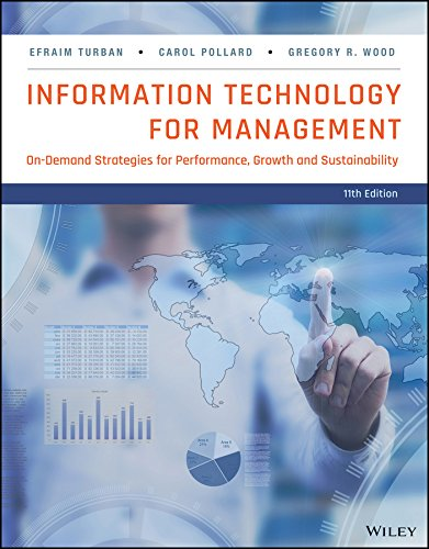 Information Technology for Management: Advancing Sustainable, Profitable Business Growth  2017 9781118890790 Front Cover