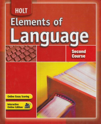 Holt Elements of Language Student Edition Grade 8 2007  2007 edition cover