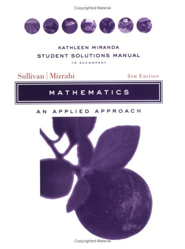 Mathematics An Applied Approach 8th 2005 (Revised) edition cover