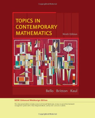 Topics in Contemporary Mathematics, Enhanced Edition  9th 2010 edition cover