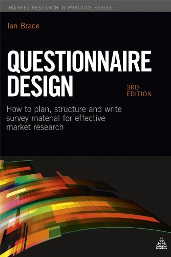 Questionnaire Design How to Plan, Structure and Write Survey Material for Effective Market Research 3rd 2013 edition cover
