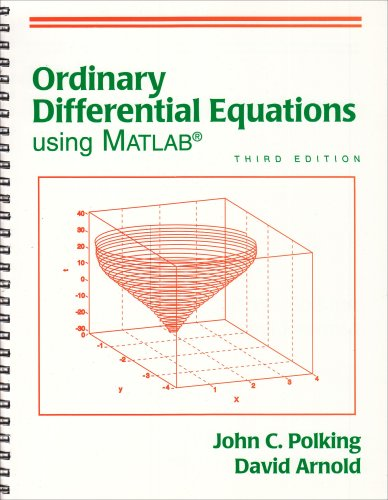 Ordinary Differential Equations Using MATLAB  3rd 2004 edition cover