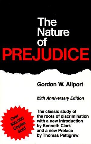 Nature of Prejudice  25th 1979 (Anniversary) edition cover