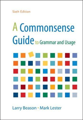 Commonsense Guide to Grammar and Usage  6th 2012 edition cover
