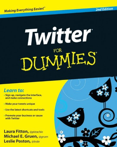Twitter for Dummies  2nd 2010 edition cover