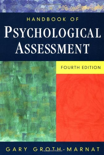 Handbook of Psychological Assessment  4th 2003 (Revised) edition cover