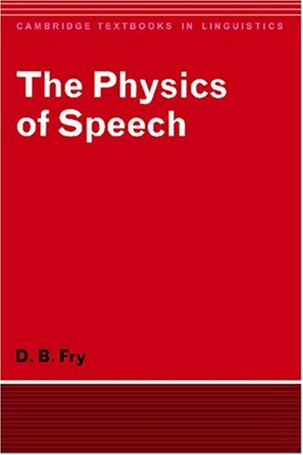 Physics of Speech   1979 9780521293792 Front Cover