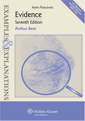 Evidence  7th 2009 (Student Manual, Study Guide, etc.) edition cover