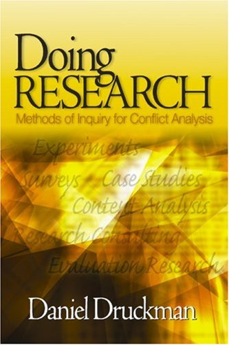 Doing Research Methods of Inquiry for Conflict Analysis  2005 edition cover