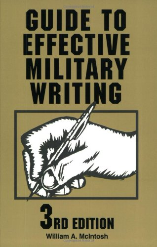 Guide to Effective Military Writing  3rd 2003 edition cover