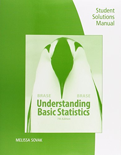 Student Solutions Manual for Brase/Brase's Understanding Basic Statistics, 7th  7th edition cover