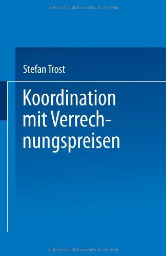 Koordination Mit Verrechnungspreisen   1998 9783824467792 Front Cover