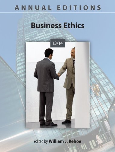 Business Ethics 13/14: 25th 2013 edition cover