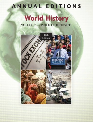 World History 1500 to the Present  10th 2010 9780078127793 Front Cover