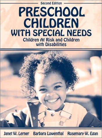 Preschool Children with Special Needs Children at Risk, Children with Disabilities 2nd 2003 (Revised) edition cover