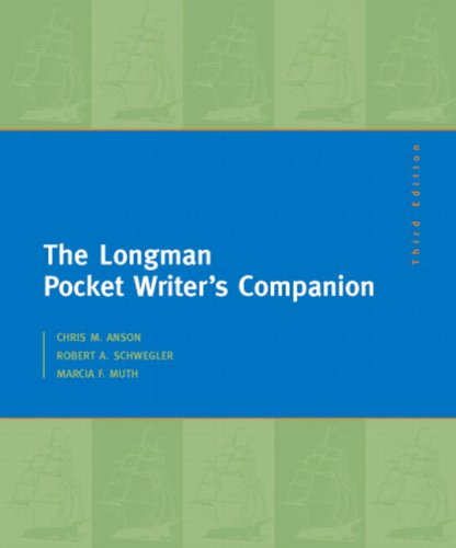 Longman Pocket Writer's Companion  3rd 2009 (Revised) edition cover